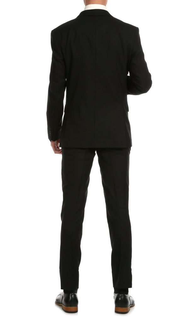 Mason Black Men's Premium 2pc Premium Wool Slim Fit Suit - Ferrecci USA