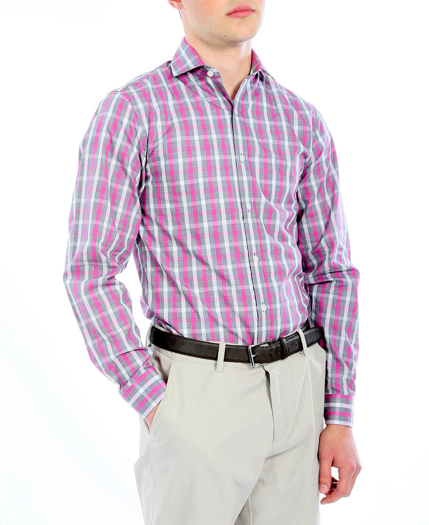The Kenton Slim Fit Cotton Dress Shirt - Ferrecci USA