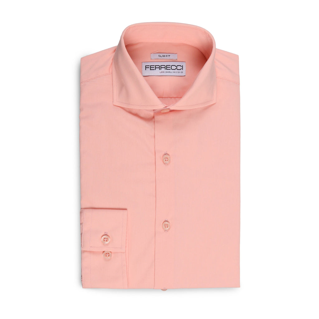 Leo Mens Pink Slim Fit Cotton Dress Shirt - Ferrecci USA
