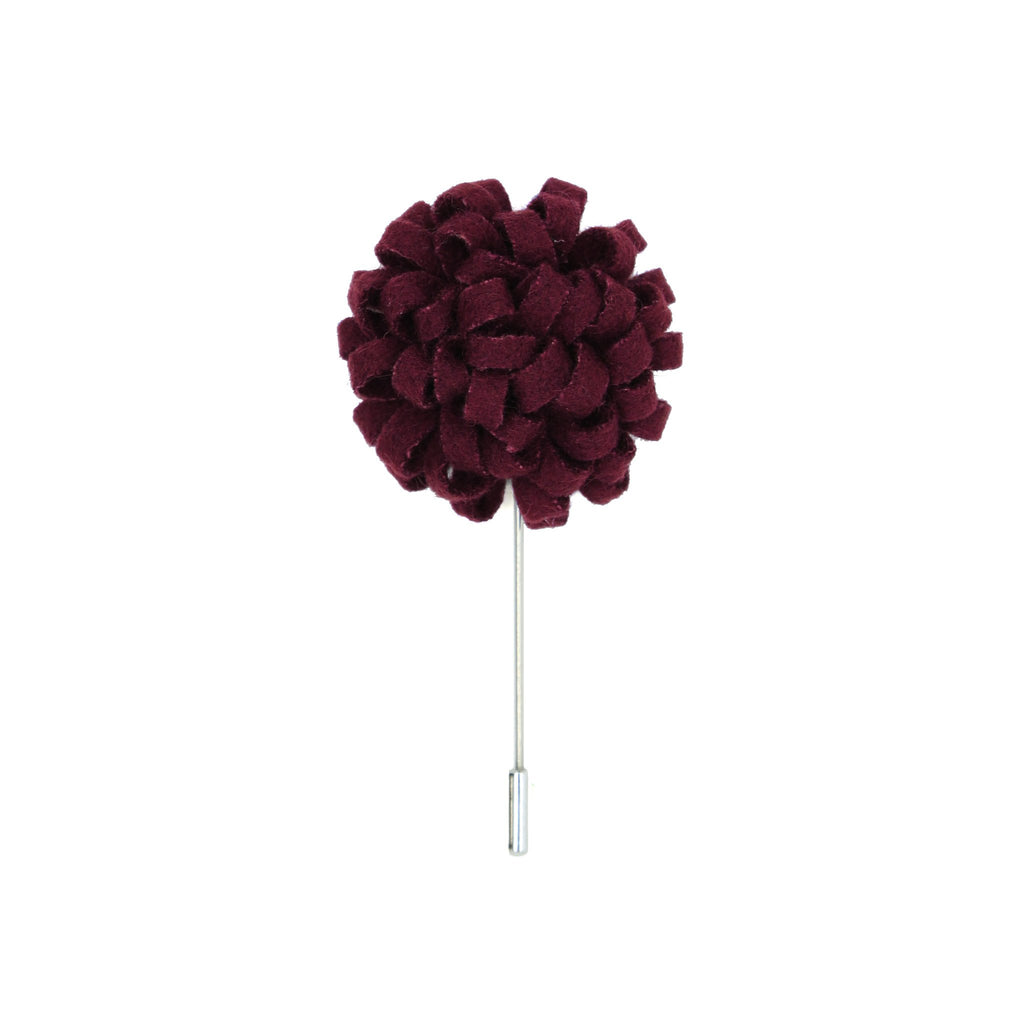 Manzu 50 Burgundy Lapel Pin - Ferrecci USA