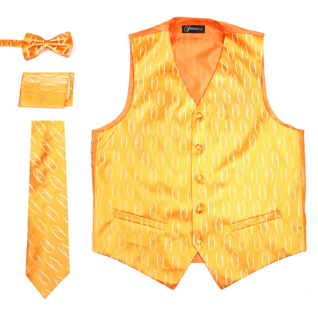 Ferrecci Mens PV100 - Orange Vest Set - Ferrecci USA