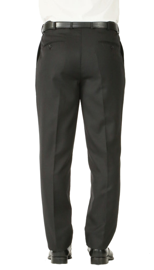 Rod Premium Black Wool 2pc Stain Resistant Traveler Suit - w 2 Pairs of Pants - Ferrecci USA