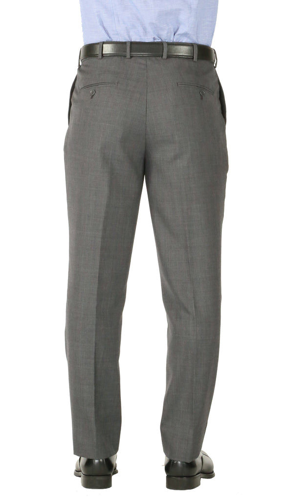 Rod Premium Grey Wool 2pc Stain Resistant Traveler Suit - w 2 Pairs of Pants - Ferrecci USA