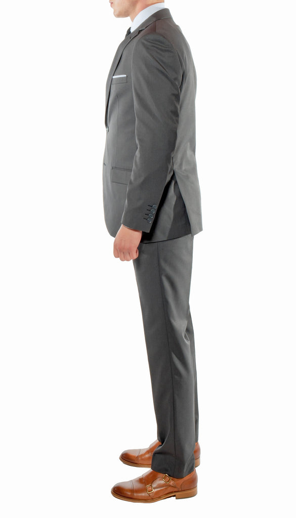 Ferrecci Mens Savannah Charcoal Slim Fit 3pc Suit - Ferrecci USA