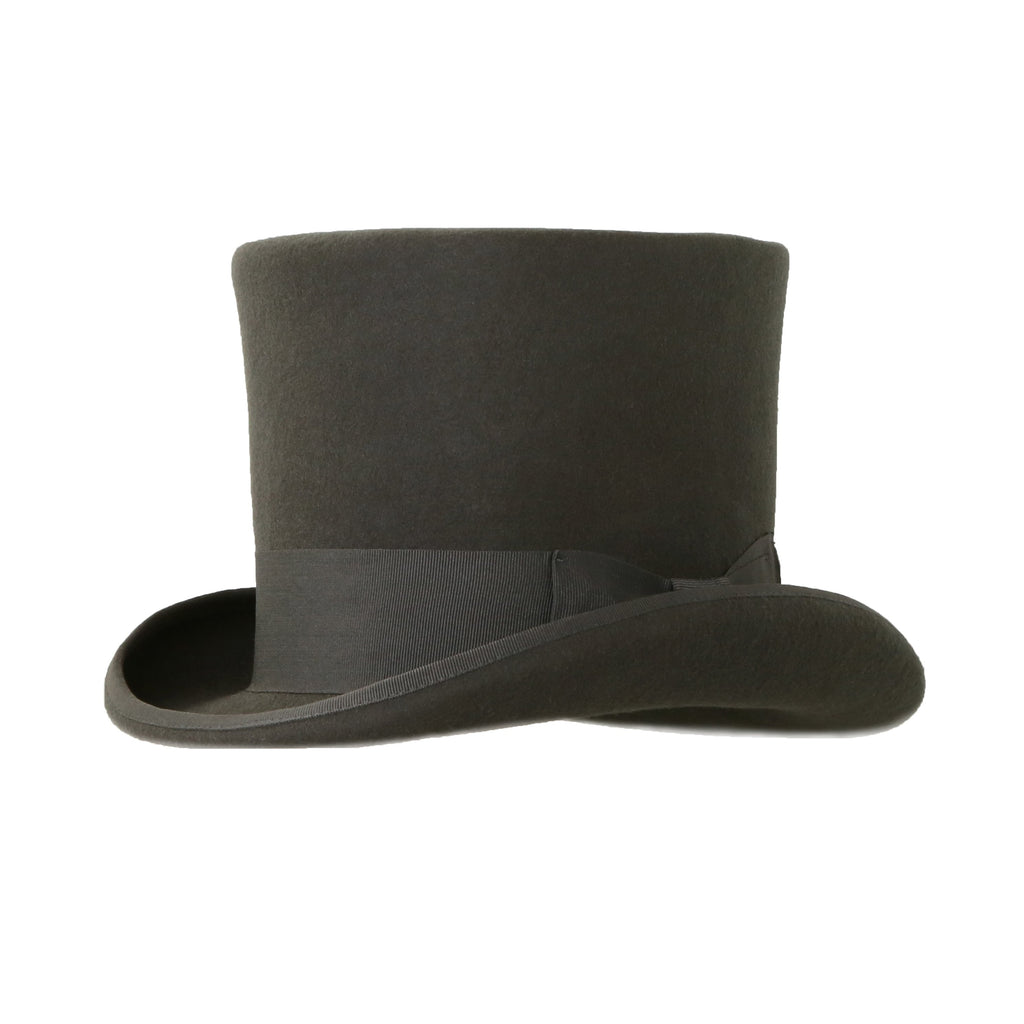 Charcoal Premium Wool Top Hat - Ferrecci USA