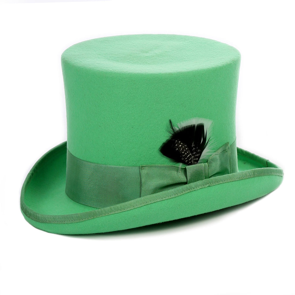 Premium Wool Green Top Hat - Ferrecci USA