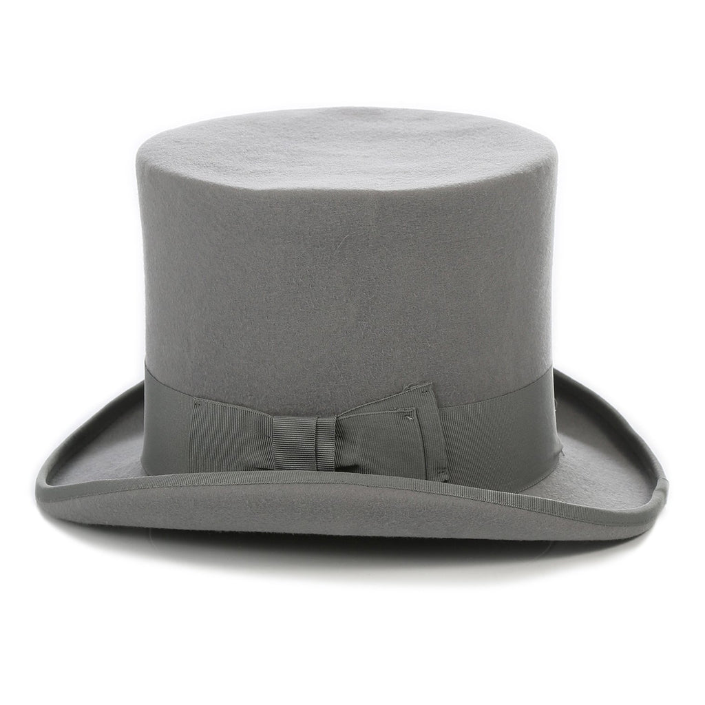 Light Grey Premium Wool Top Hat - Ferrecci USA