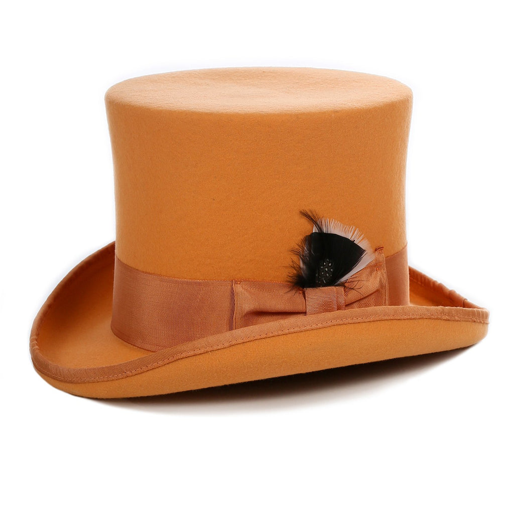 Premium Wool Orange Top Hat - Ferrecci USA