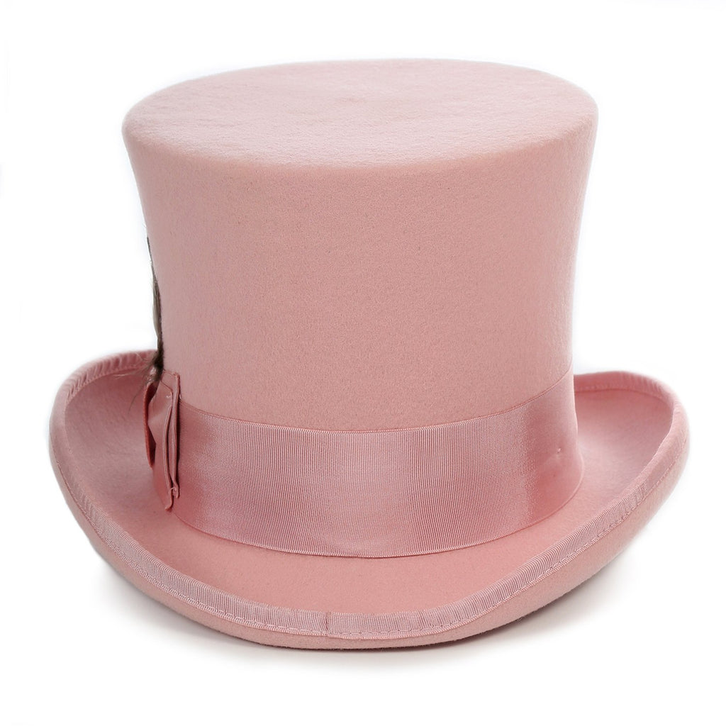 Premium Wool Pink Top Hat - Ferrecci USA