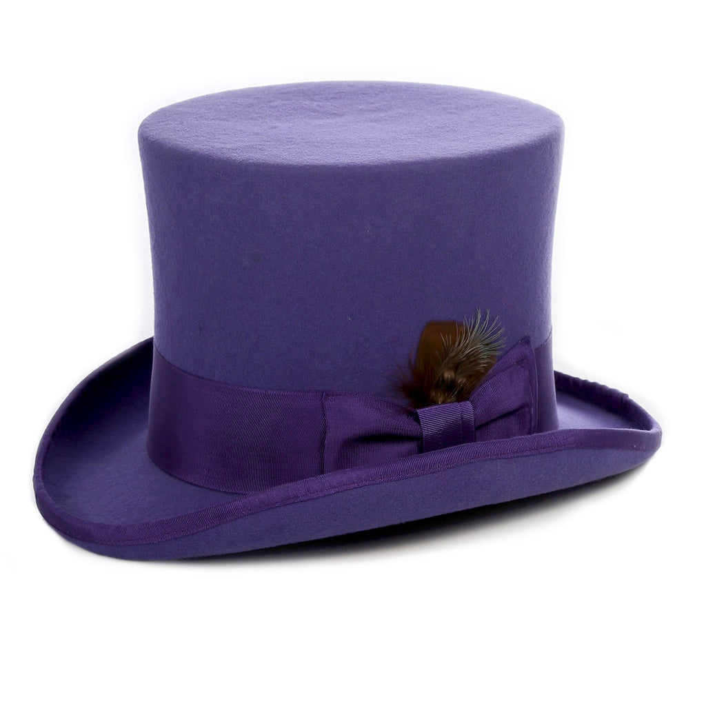 Premium Wool Ultra Violet Top Hat - Ferrecci USA