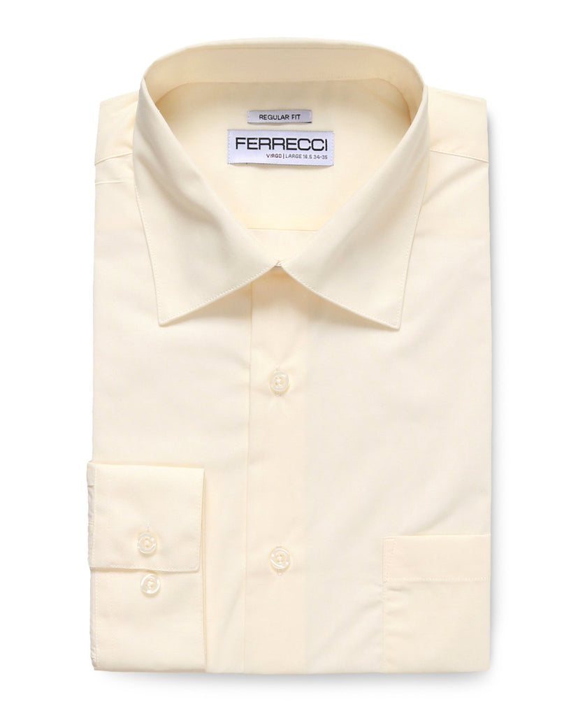 Virgo Off White Regular Fit Dress Shirt - Ferrecci USA