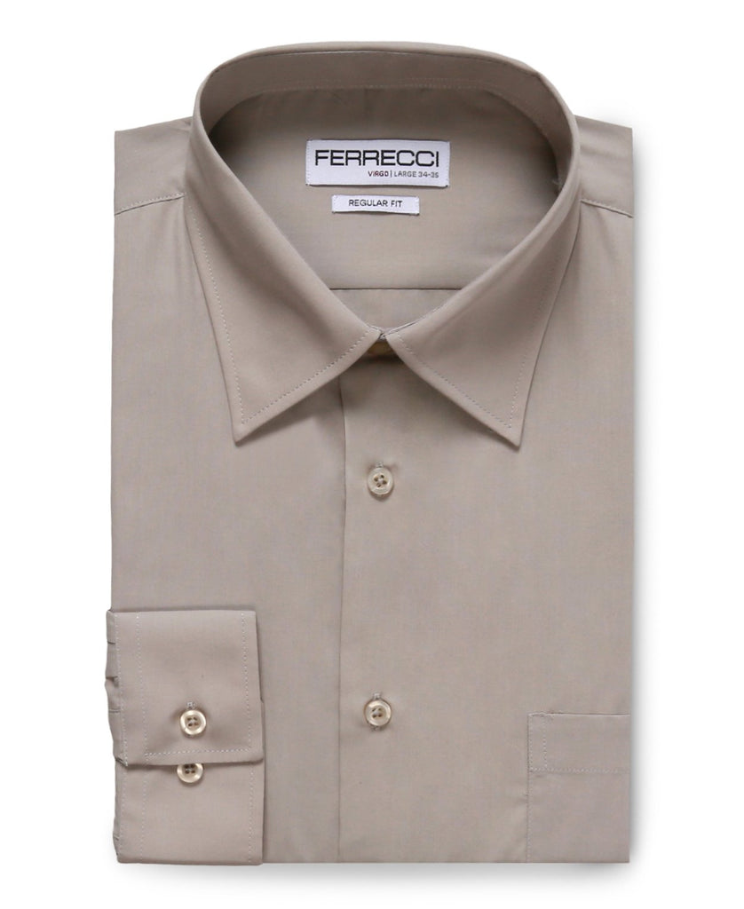 Virgo Light Grey Regular Fit Dress Shirt - Ferrecci USA