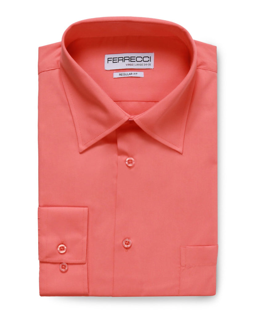Virgo Coral Regular Fit Dress Shirt - Ferrecci USA