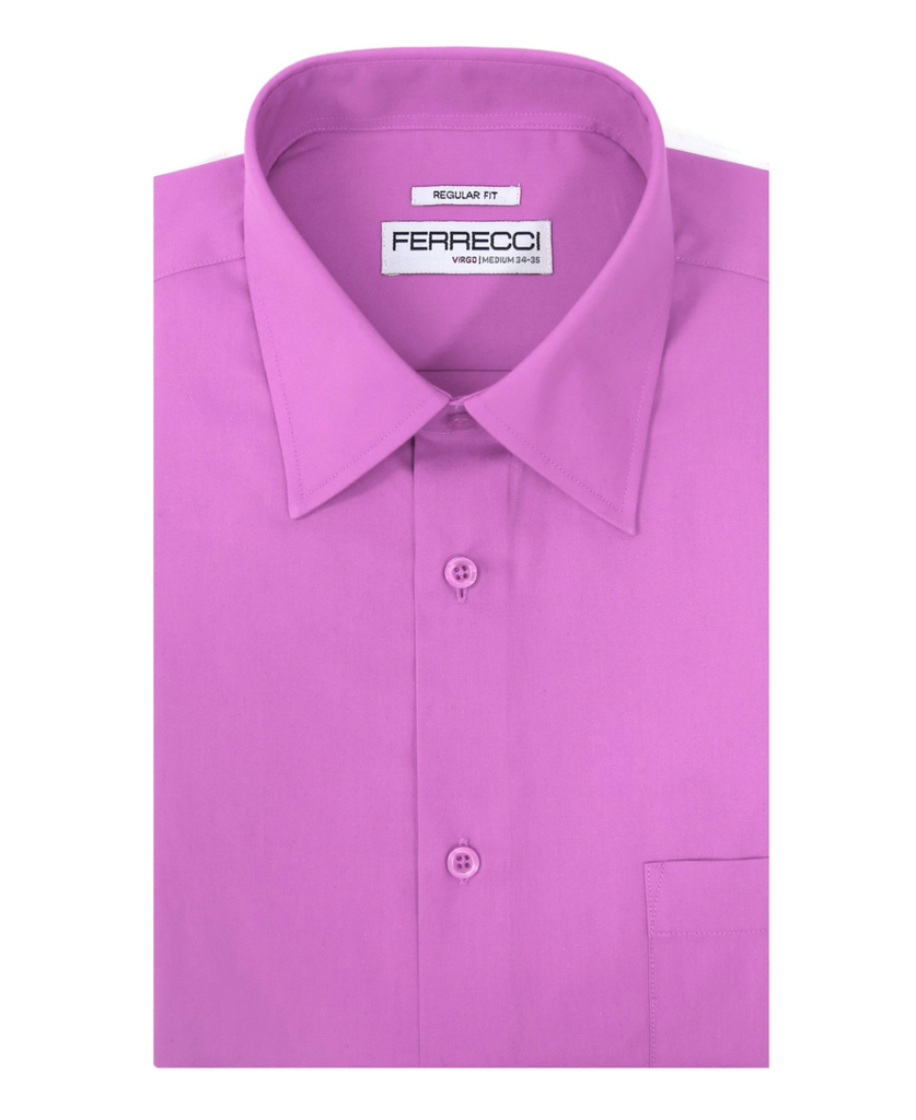 Virgo Lavender Regular Fit Dress Shirt - Ferrecci USA
