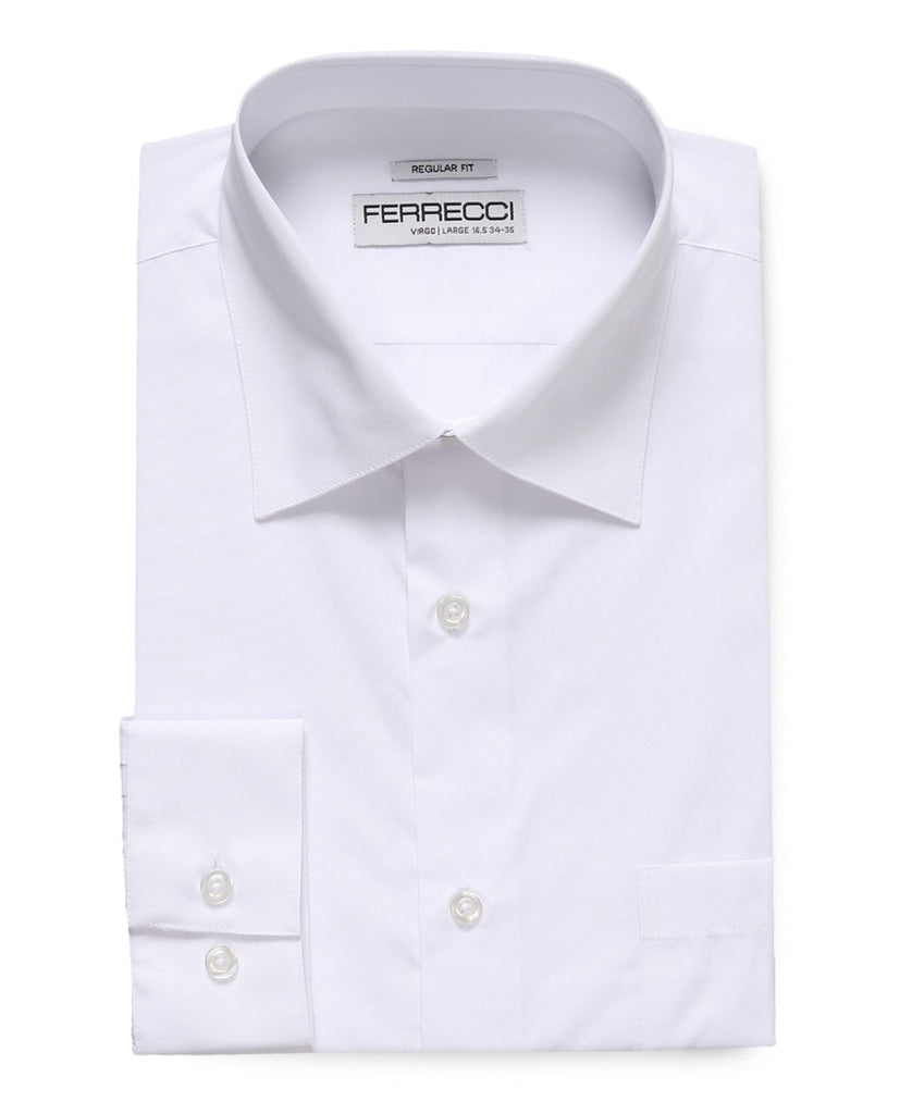 Virgo Snow White Regular Fit Dress Shirt - Ferrecci USA