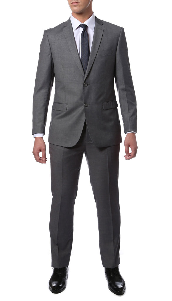 ZNL101 Charcoal Slim Fit Modern Men's 2 pc Suit - Ferrecci USA