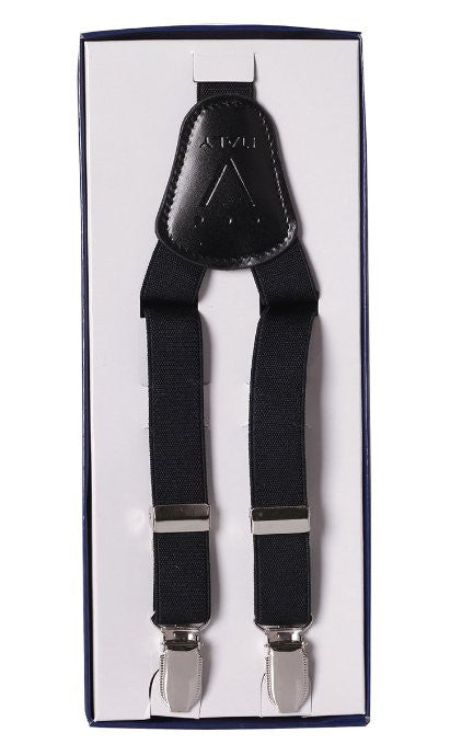 Boys Black Suspenders Y Shape Back Elastic Clip One Size Fits All