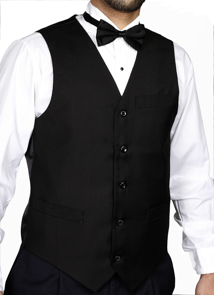 NYMSuits - Men's Basic Black Tuxedo Vest - TV115