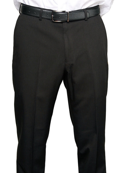 Michael Kors Men's Solid Black Non Pleated Regular Fit Dress Pants - XQX0000