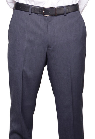 Michael Kors Men's Modern Blue Non Pleated Regular Fit Dress Pants - XQX0010