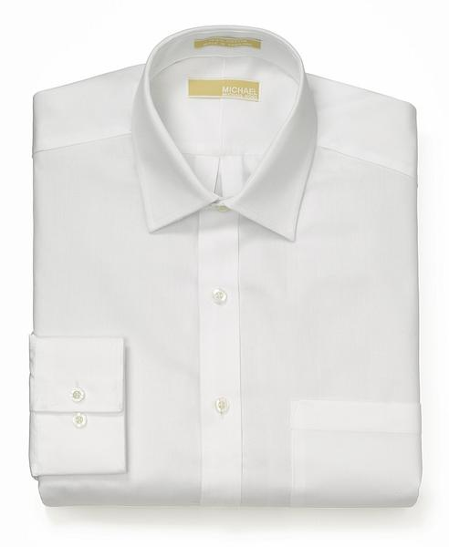 Michael Kors Mens Button Down Cotton Dress Shirt - 35S0292