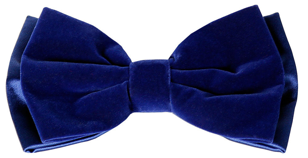 Paitelli Royal Blue Velvet Bow Tie  - Tuxedo Bow Tie