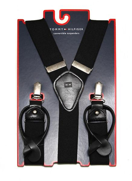 Tommy Hilfiger Mens Adjustable Clip Suspenders - 21TL61X009