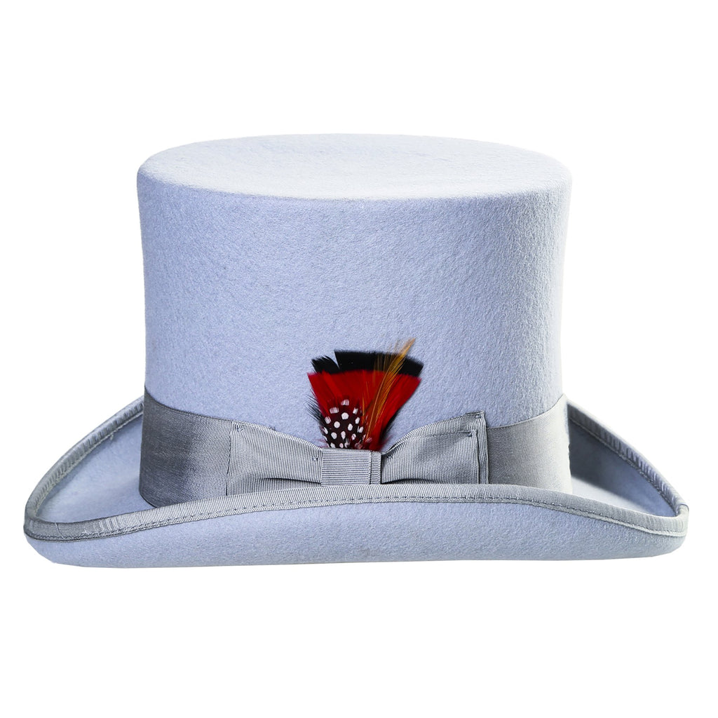 Premium Wool Sky Blue Top Hat - Ferrecci USA