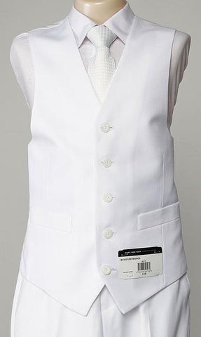 Boys White Communion Vest - 5 Button - Marc New York - VM9W0000
