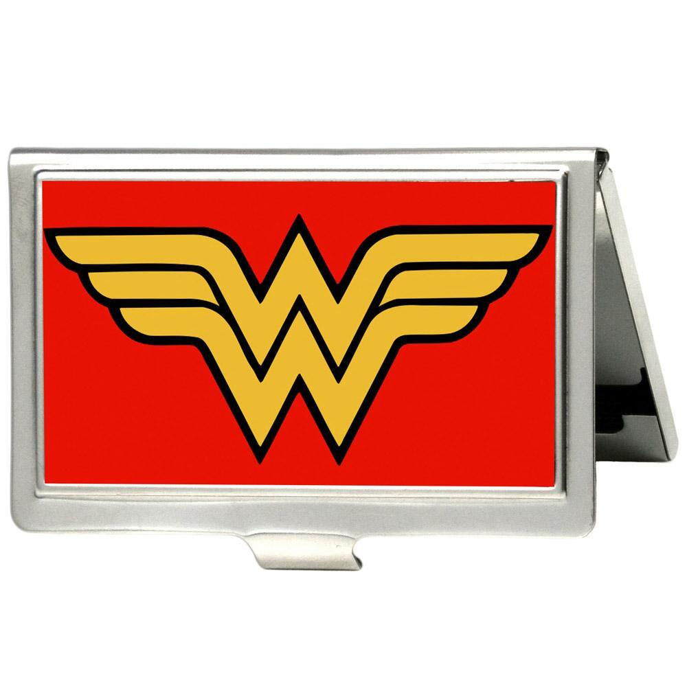 Wonder Woman Classic Red Business Card Holder