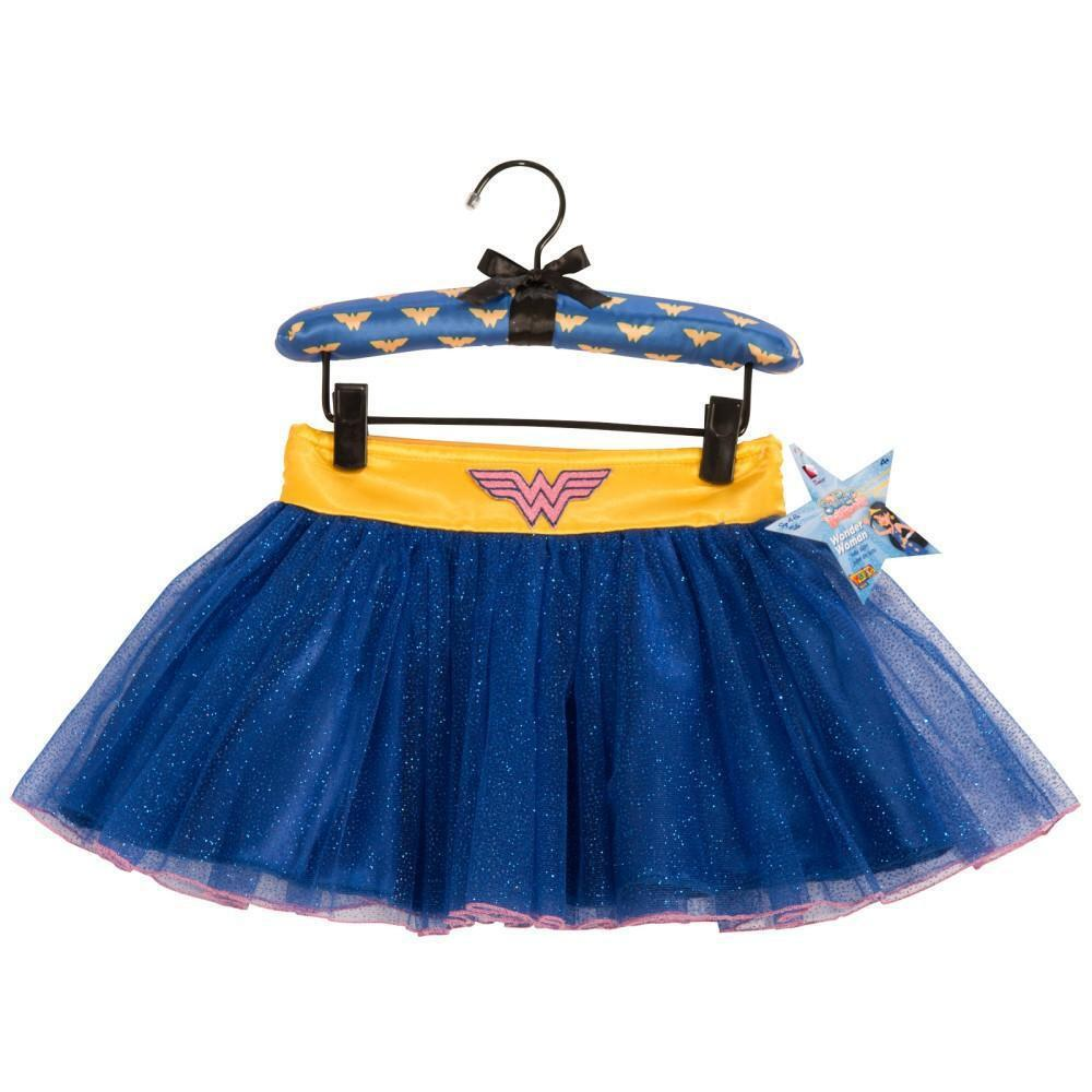 Wonder Woman Child Blue Tutu Skirt with Hanger Costume Accessory