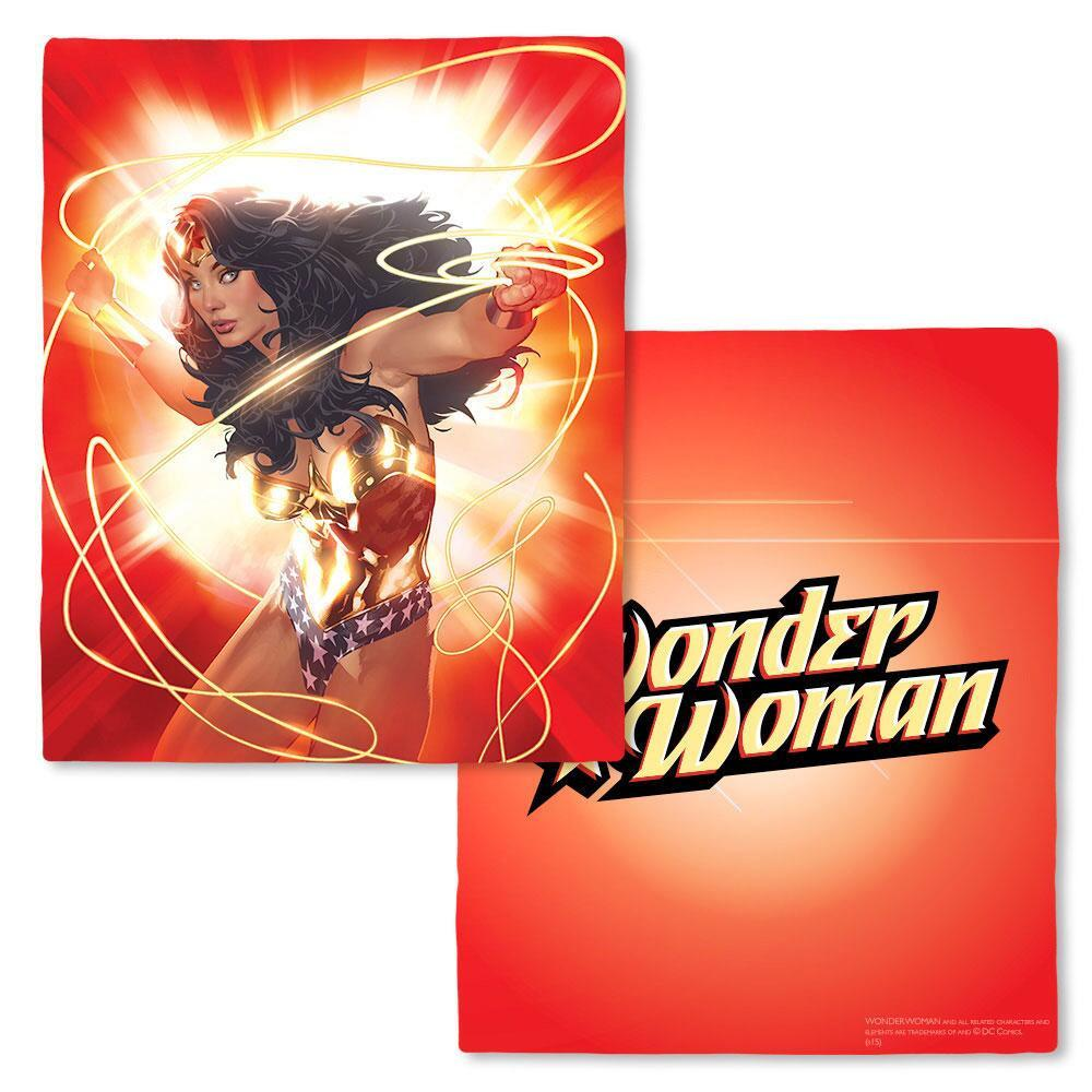 Wonder Woman Red Lasso Fleece Throw Blanket