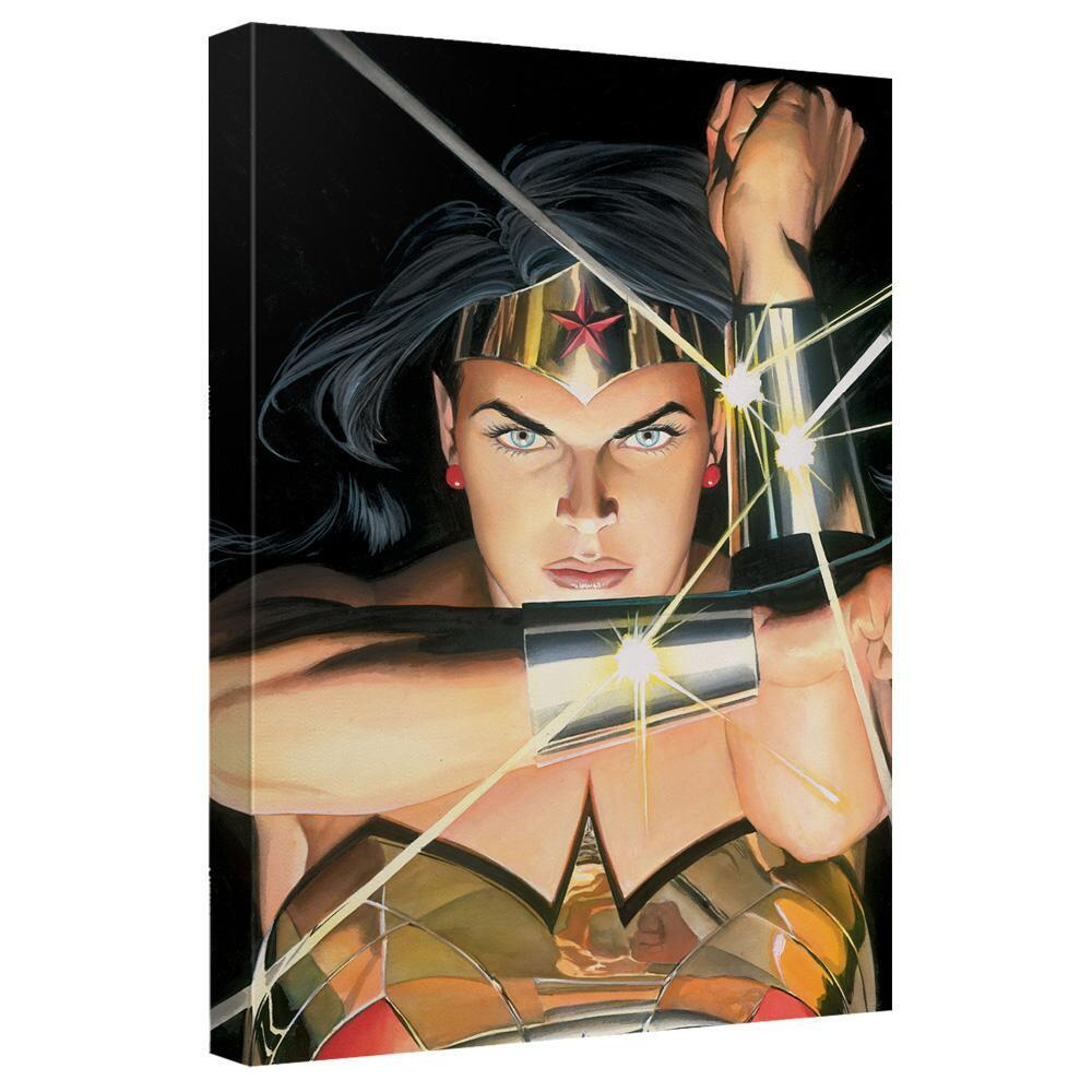Wonder Woman Bracelets Painted by Alex Ross Canvas Wall Art