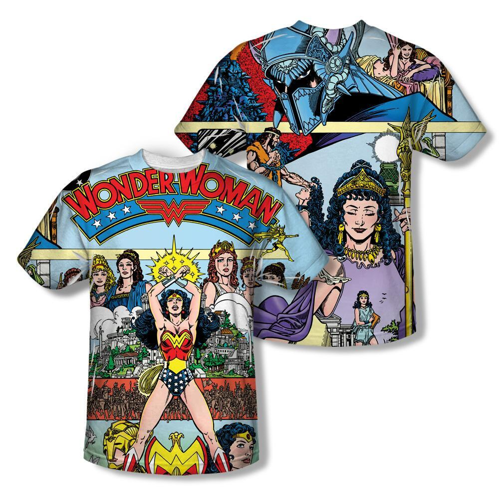 Wonder Woman Allover Print No. 1 Cover Adult T-shirt