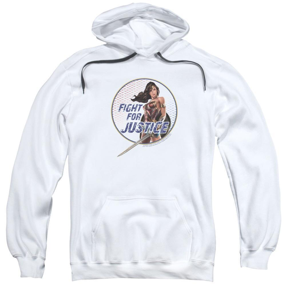 Wonder Woman Movie Fight for Justice Adult White Hoodie