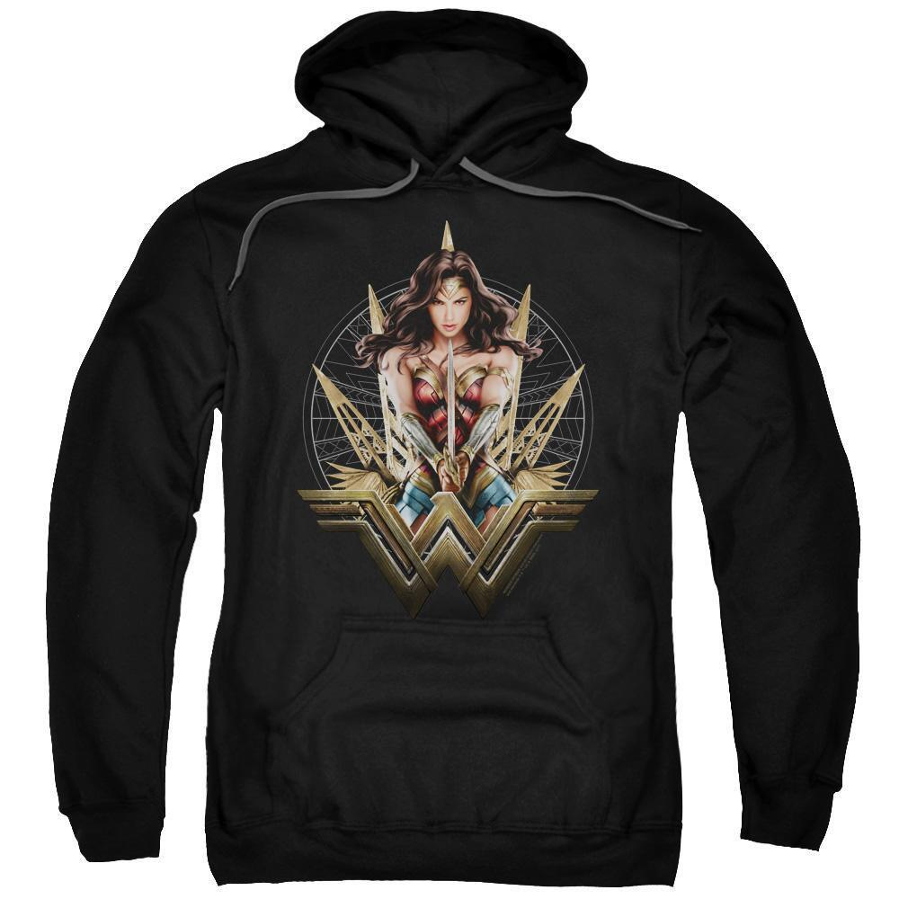 Wonder Woman Movie Wonder Sword & Blades Adult Black Hoodie