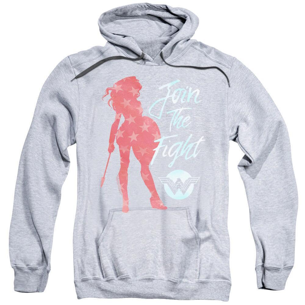 Wonder Woman Movie Join the Fight Adult Heather Hoodie