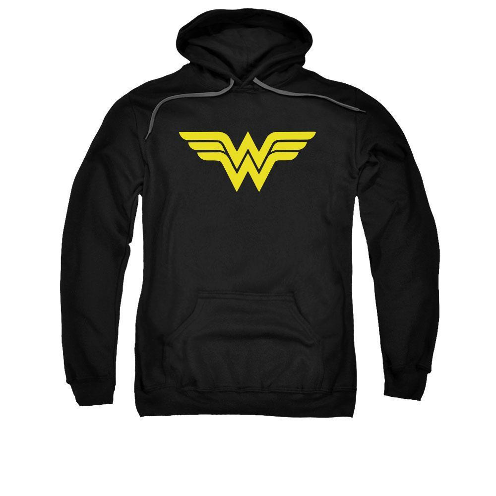 Wonder Woman Logo Adult Black Hoodie