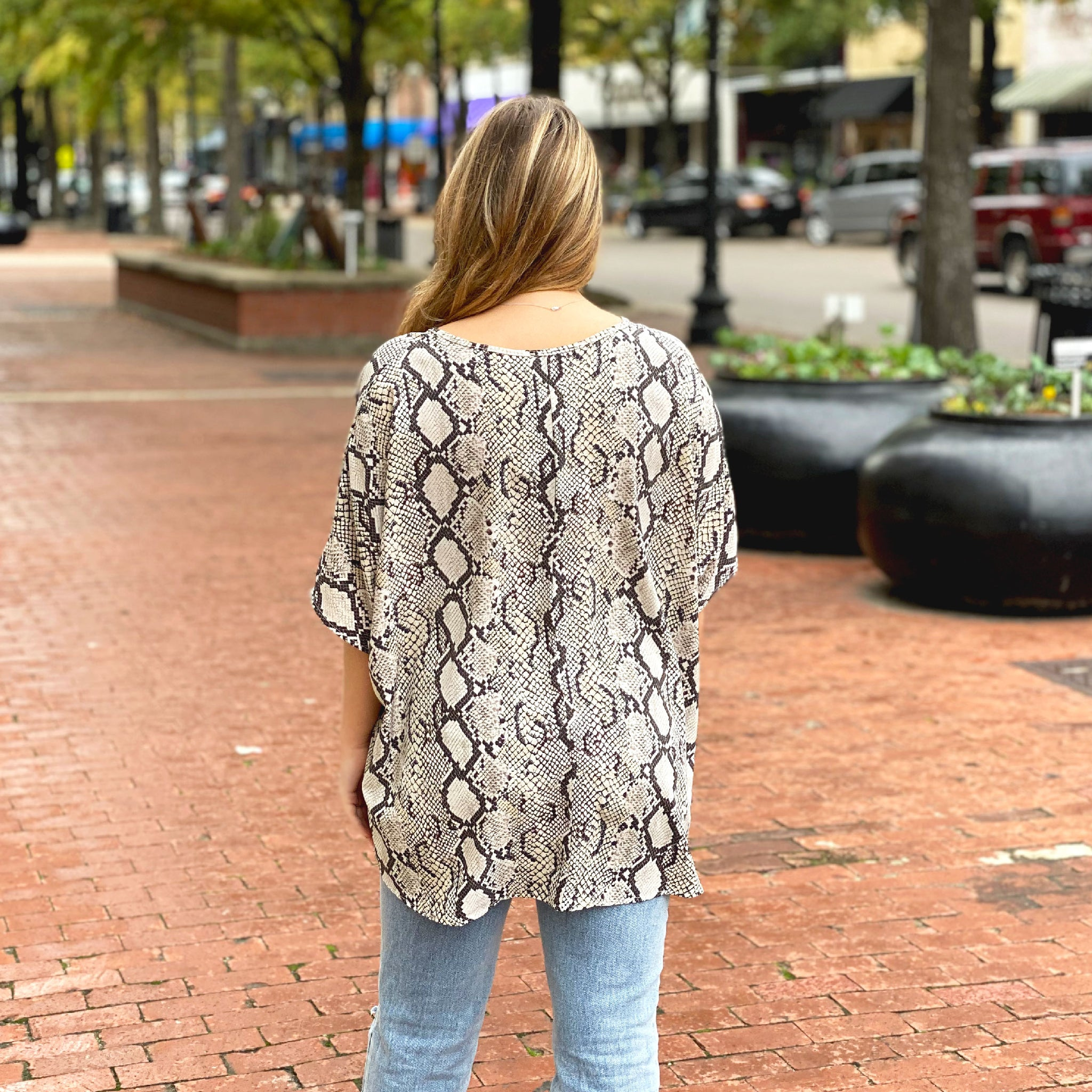 Better With You Snake Print - Top