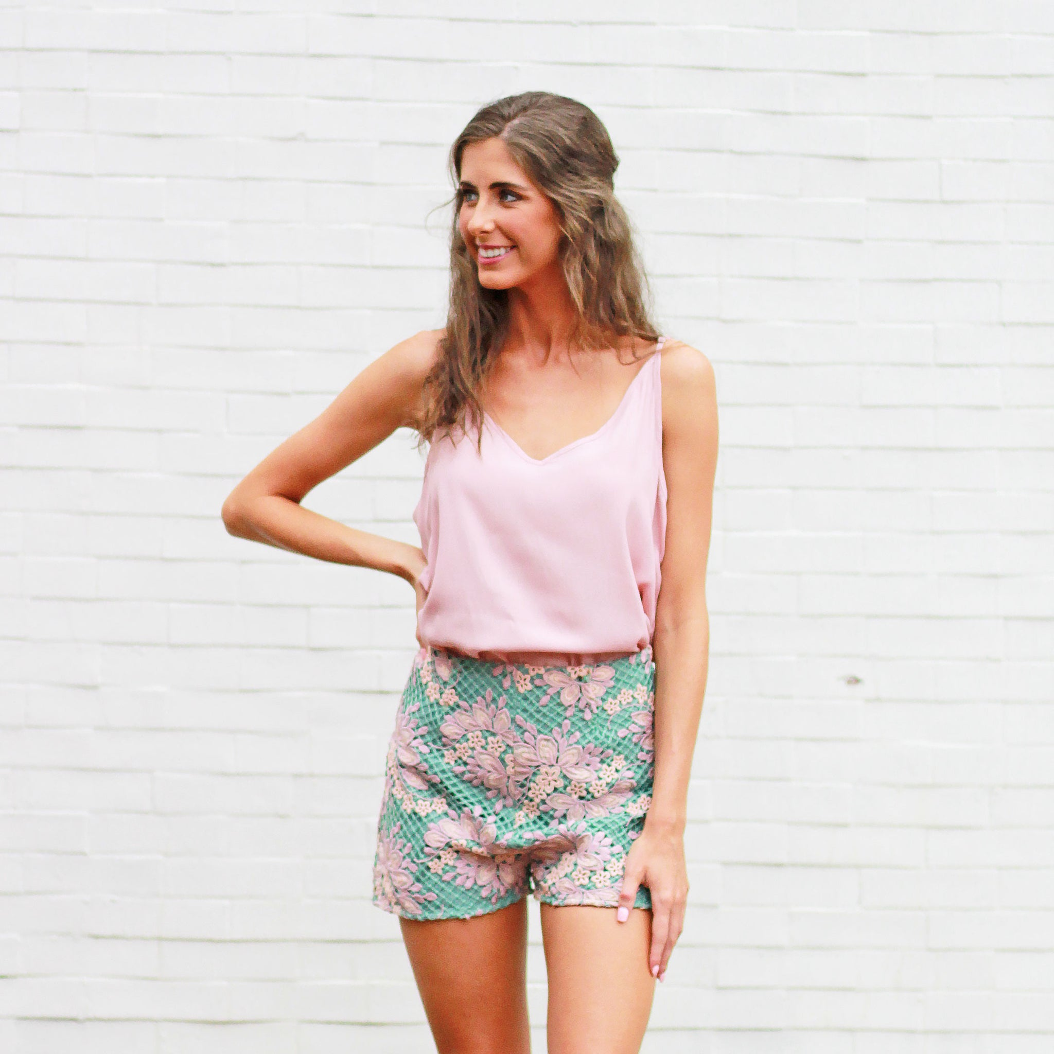 Garden Of Eden Floral - Shorts - Sage