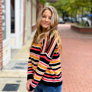 Keep Me Warm Striped - Sweater