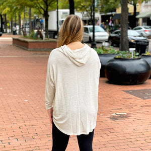 Weekend Retreat Knit Hoodie - Top