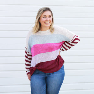 Nothing But Love Striped - Sweater
