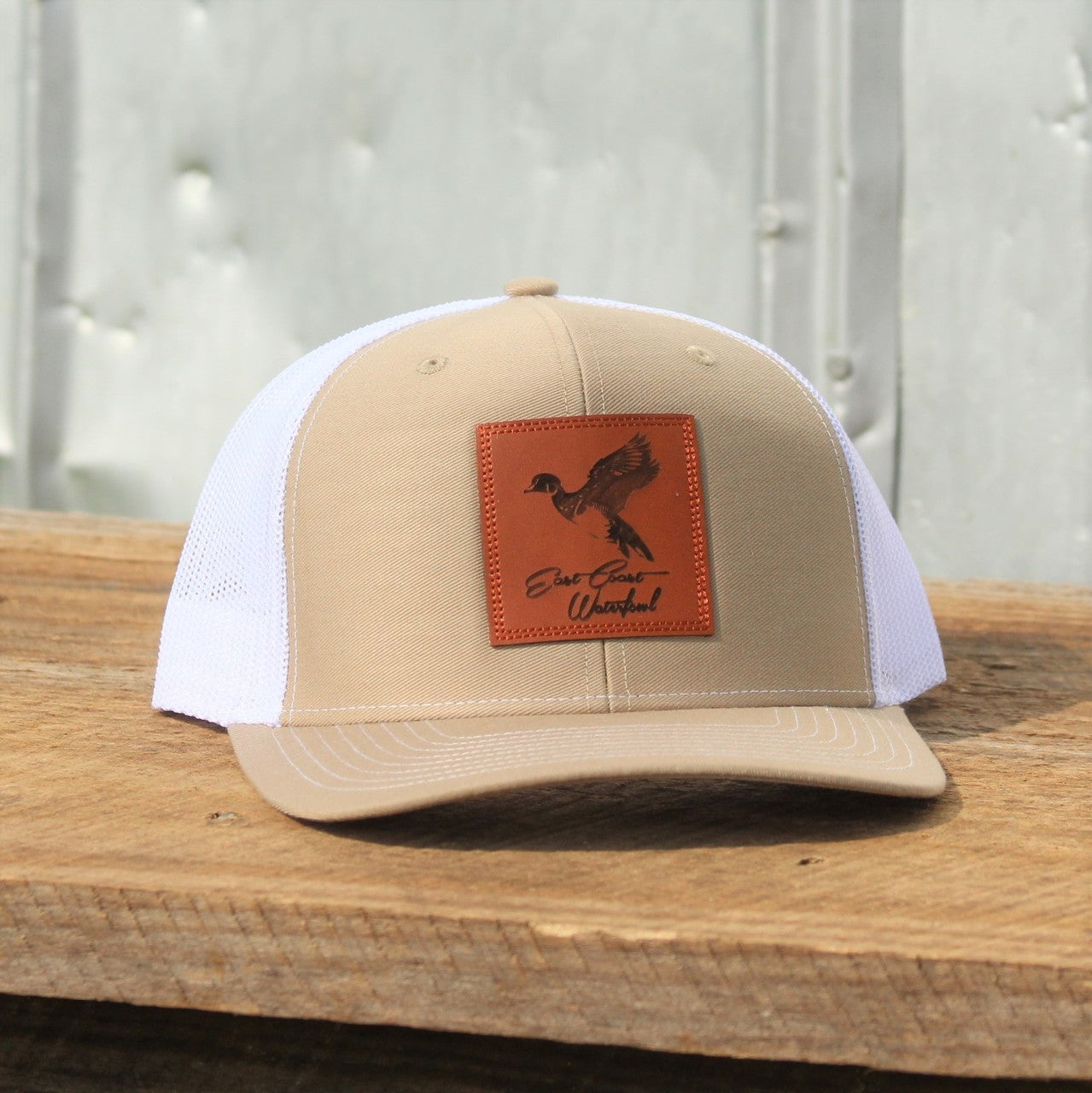 Woodie Leather Patch - Trucker Hat