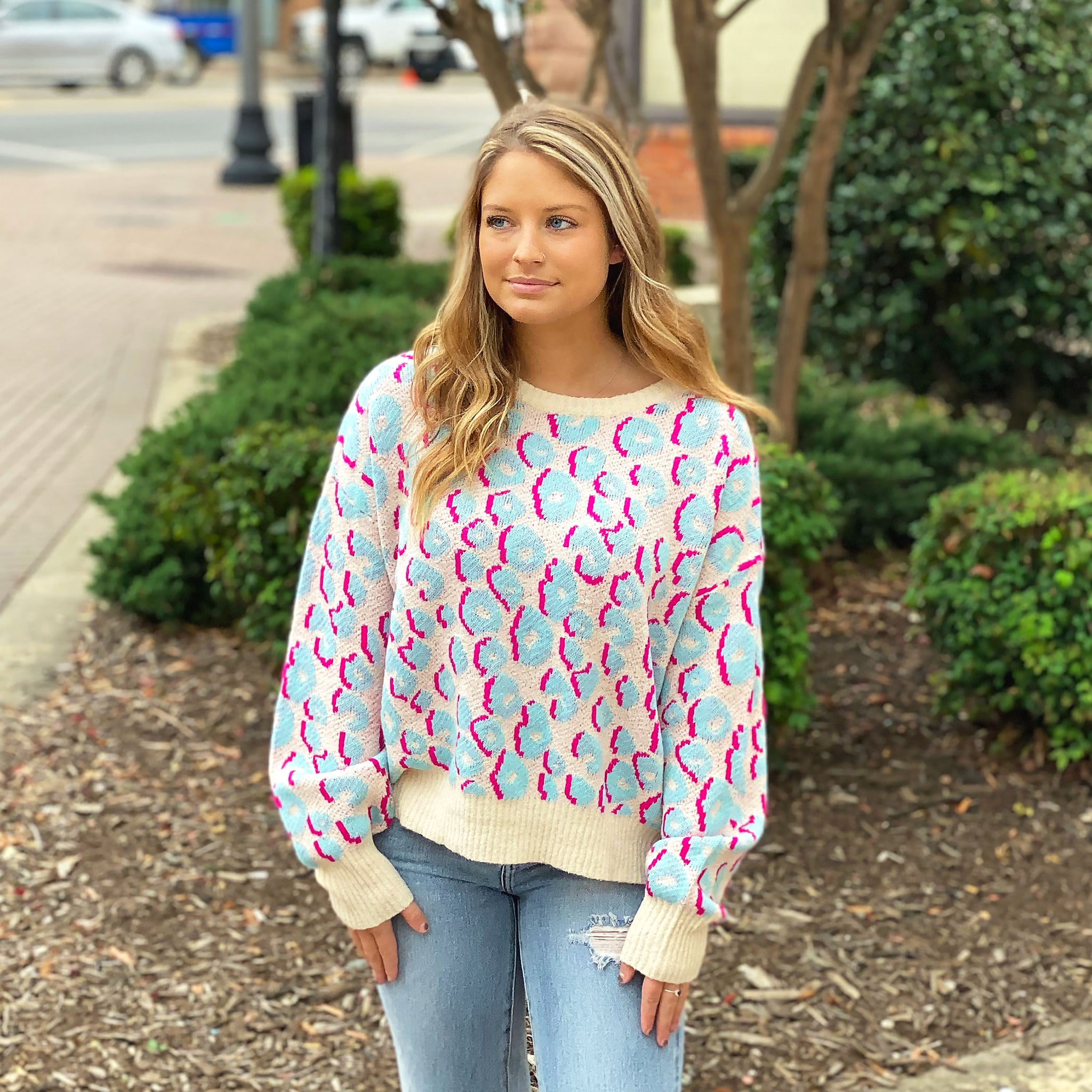 Lisa Frank Leopard - Sweater