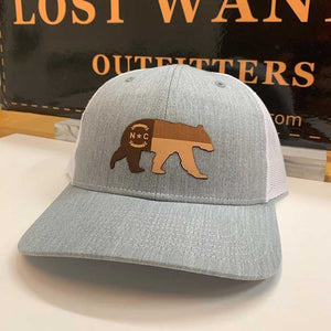 NC Bear Leather Patch - Trucker Hat
