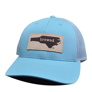 NC Brewed Leather Patch - Trucker Hat