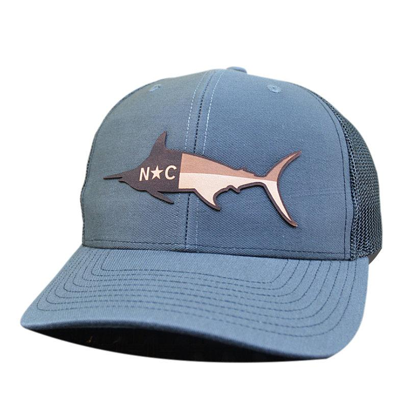 NC Marlin Leather Patch - Trucker Hat