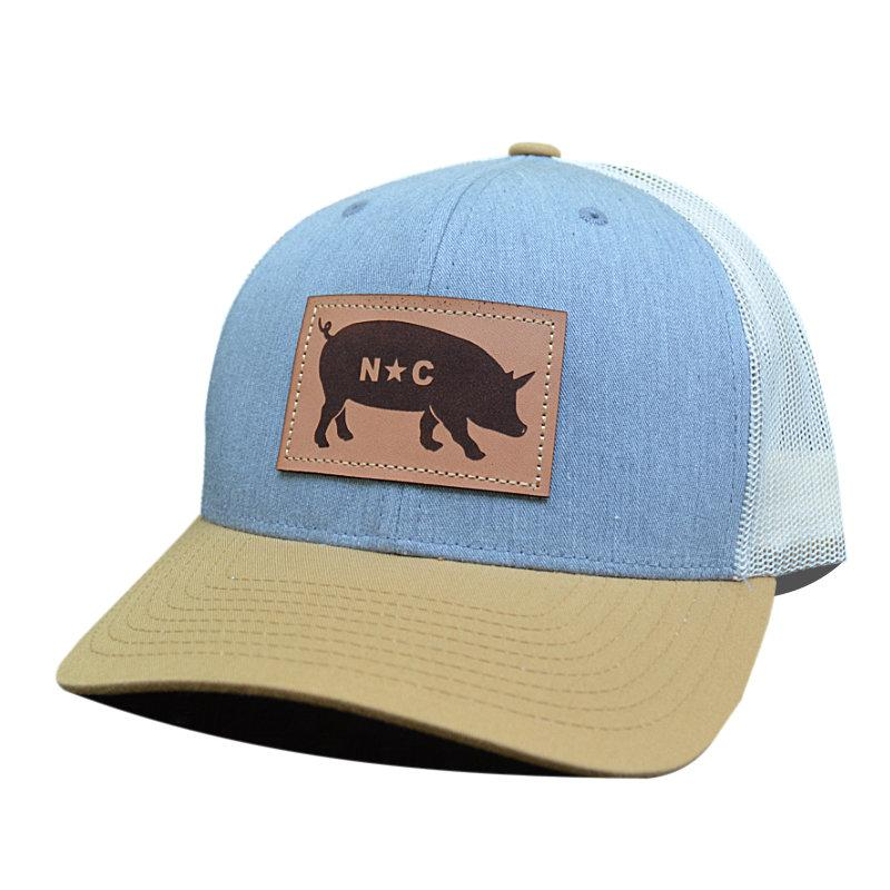 NC Pig Leather Patch - Trucker Hat