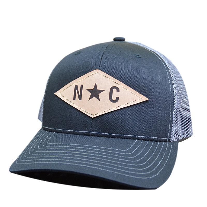 N*C Diamond Leather Patch - Trucker Hat